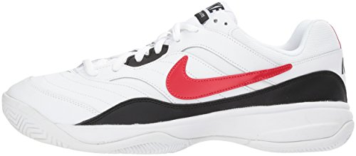 Nike Men's Court Lite Tennis Shoe, White/University red/Black, 7.5 D US by Nike (Image #5)