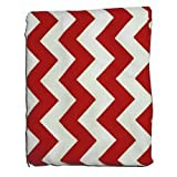 Chevron Crib/Toddler Sheet - Color: Red, Style: Fitted