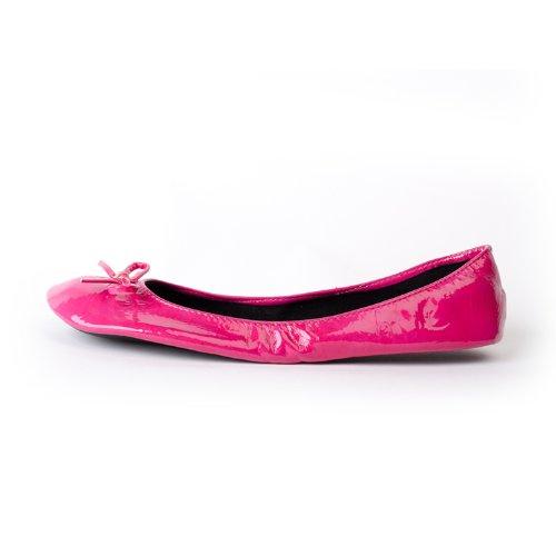 pliables dans avec Chaussures tailles jusqu' patent femme les Ballerines ruban rose disponibles qTEp1afwE