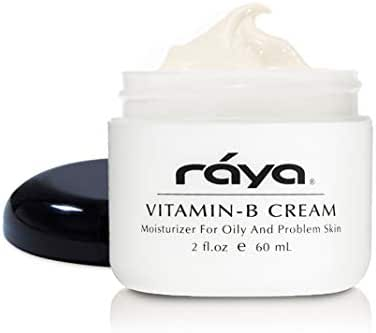 RAYA Vitamin-B Cream (300) | Very Light, Hightly Effective, and Moisturizing Facial Day Cream for Oily, Break-Out, and Problem Skin | Controls Oil Overproduction | Great for Teens