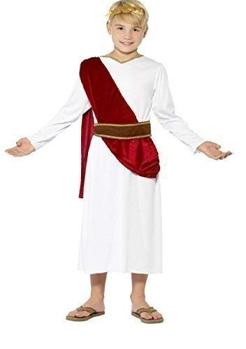 (Boys Roman Toga Emperor Caesar Greek Ancient Book Day Fancy Dress (10-12)