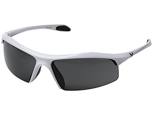 (Under Armour Zone Multiflection Sport Sunglasses, Shiny White Frame/Gray Lens, one size)