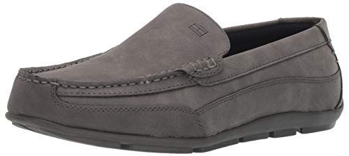 Tommy Hilfiger Men's Dathan Driving Style Loafer, Grey, 8 W US