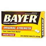 Bayer 325mg Tablets 200 Count