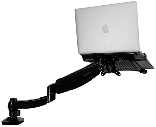 Fleximount 2 in 1 Single monitor Arm Desktop Laptop Mount Fits 10