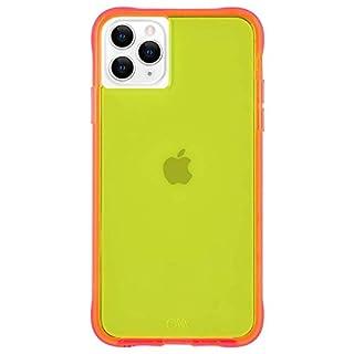 Case-Mate - iPhone 11 Pro Max Case - Tough NEON - 6.5 - Yellow/Pink Neon (CM039402)