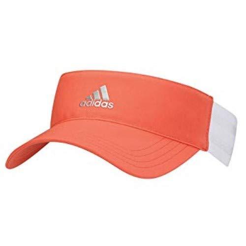 - adidas Womens Ladies Golf Tennis 3 Stripe Visor Easy Coral OSFA