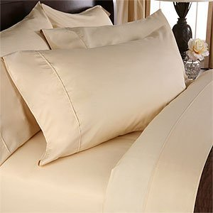 (Egyptian Bedding 800-Thread-Count Egyptian Cotton 4pc 800TC Bed Sheet Set, Full, Gold Solid 800 TC)