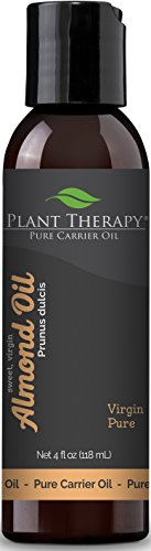 Plant Therapy Sweet Almond Carrier Oil. A Base Oil for Aromatherapy, Essential Oil or Massage use. 4 oz.