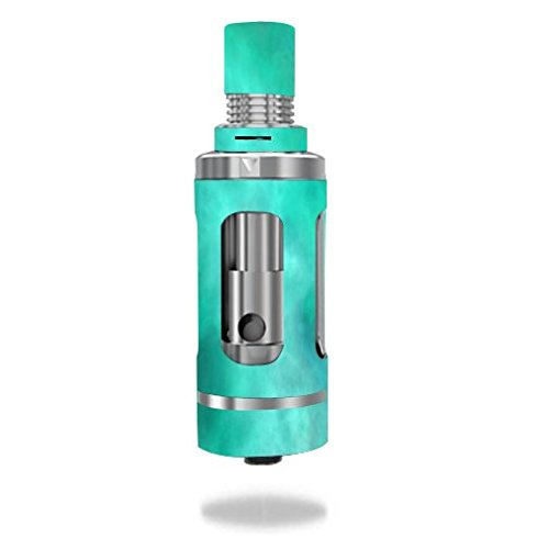 Aspire-Triton-Tank-Vape-E-Cig-Mod-Box-Vinyl-DECAL-STICKER-Skin-Wrap-Blue-Teal-Aqua-Smoke-Cloud-Clouds