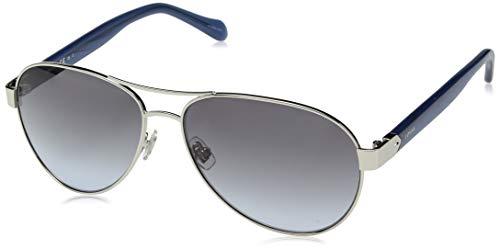 Fossil Women's Fos 3079/s Aviator Sunglasses, Silver, 60 mm