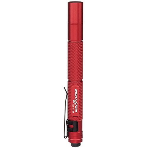 137mm 5.4 in Nightstick MT-100R Mini-TAC Metal LED Flashlight Red 2 AAA