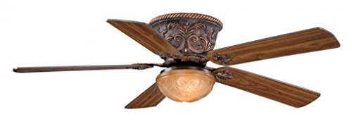 Vaxcel FN52317AR Corazon Flush Mount Ceiling Fan, 52″, Aged Bronze Finish For Sale