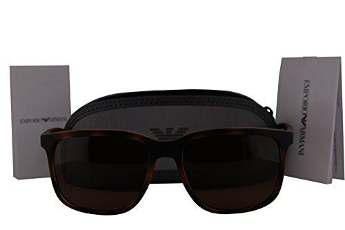 Emporio Armani EA4104 Sunglasses Havana Rubber w/Brown Lens 559473 EA - Crooked Are Sunglasses