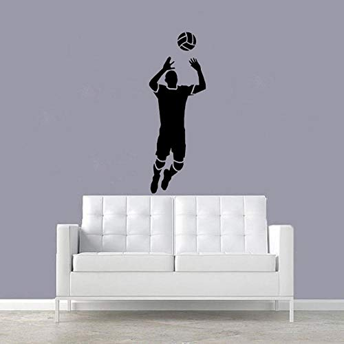 Wall Stickers Murals 22.3Cmx63Cm Fashion Wall Sticker Volleyball Player Girl Beach Decor Sitting Room The Bedroom PVC Personalized
