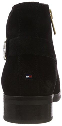 Th Noir Femme Buckle 990 Hilfiger Botines Suede Tommy Bootie black 7vnqw500R