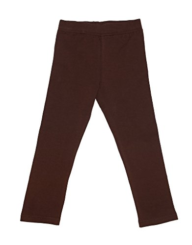 Leveret Solid Girls Legging Brown 12 Years
