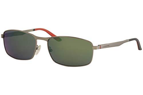 Carrera 8012/S Sunglasses - 0R80/OZ - Semi Matte Dark Ruthenium / Gray Green