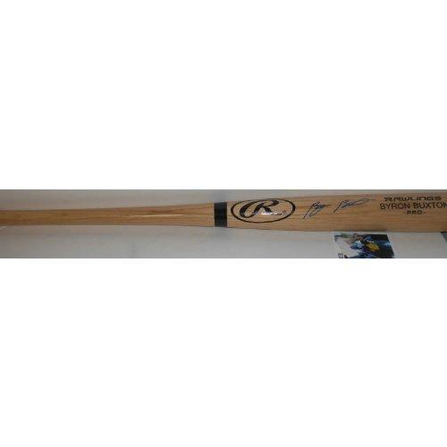 Byron Buxton Minnesota Twins Autographed Signed Engraved Bat Top Prospect (Blonde Engraved Bat)
