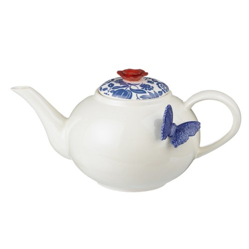 Grasslands Road American Bloom Ceramic Teapot, 6-Inch, Gift Boxed
