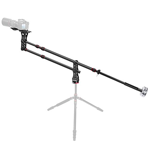 Neewer 70 inches/177 centimeters Aluminum Alloy Jib Arm Camera Crane with 360 Degree Pan Ball Head, Counter Weight, 1/4 and 3/8-inch Quick Release Plate, Load Capacity up to 8 kilograms / 17.6 pounds (Crane Pro Parts)