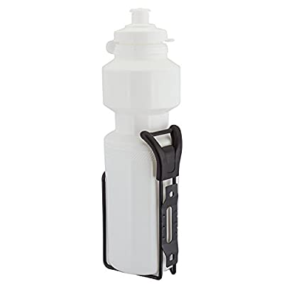 SUNLITE Water Bottle with Steel Cage, 25oz, White : Bike Water Bottles : Sports & Outdoors