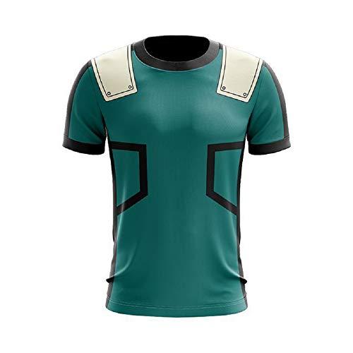 Men's My Hero Academia T Shirt Izuku Midoriya - Boku No Hero Cosplay Hero Costume Ultra S M L XL XXL 3XL (3X-Large) Green]()
