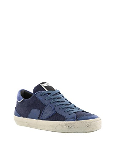 Umane Philippe Belucw10 Blu In Modello Pelle Sneakers Pad1vqv