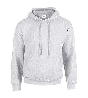 Gildan 18500 - Classic Fit Adult Hooded Sweatshirt Heavy Blend - First Quality - Ash Grey - 3X-Large - Ansi Fleece Jacket Hooded