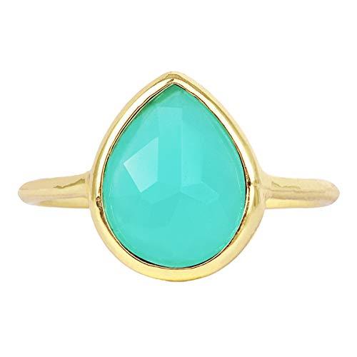 Pear Shape Amazonite Wholesale Gemstone Jewelry Ring