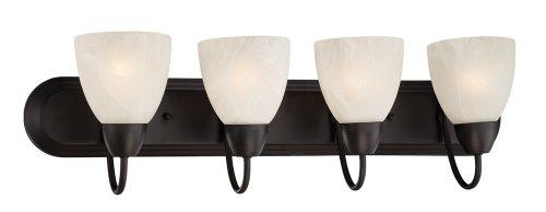 Designers Fountain 15005-4B-34 Torino 4 Light Bath Bar, Oil Rubbed Bronze ()