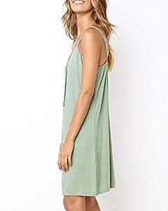 Imysty Womens Polka Dot V Neck Button Down Ruffles Loose Mini Short T-Shirt Dress (Medium, Z3-Army Green)