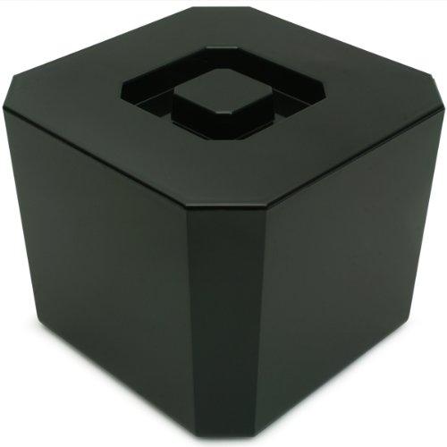 drinkstuff Octagonal Ice Bucket Black 4.5ltr | Plastic Ice Bucket