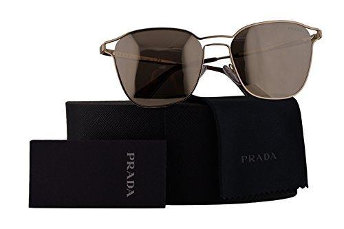 Authentic Prada Sunglasses (Prada Authentic Sunglasses PR54TS Pale Gold w/Light Brown Mirror Gold Lens ZVN1C0 SPR54T (55mm))
