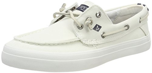 sider Can Resort Crest 10 White white Bateau Sperry Washed Blanc Chaussures Femme Top 5qOfxf