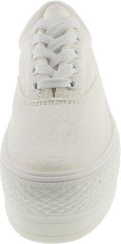 Casual Zapatillas deporte C50 Plataforma hoyos Barco Zapatos Low de Top 5 Blanco Maxstar wX8AxqvA