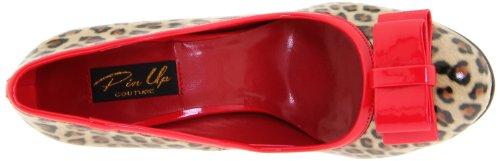 Pleaser Smitten-01, Zapatos de Tacón Para Mujer Tan Pu-Red Pat (Cheetah Print)