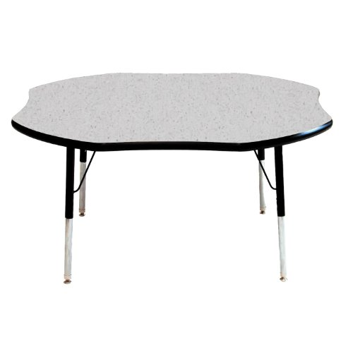 48'' x 48'' Shamrock Classroom Table Top Color: Gray Nebula, Table Size: Toddler 16''-24'' Ball Glide, Side Finish: Navy by Mahar