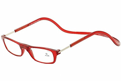 CliC Adjustable Front Connect Reader, 2.00 Strength, Red Frame (Best Fly Fishing Glasses)