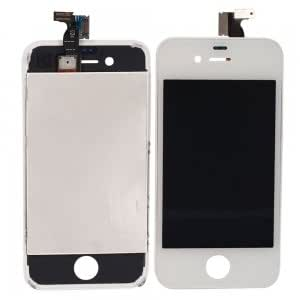 Cell Accessory LCD Touch Screen Replacement Assembly with Bezel Frame for iPhone 4 GSM Version White