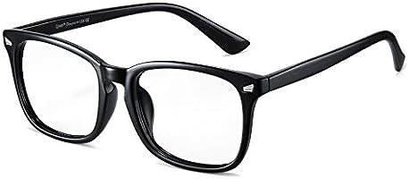 Cyxus Blått ljusblockering [Anti Eyestrain] Datorglasögon, klar lins retro glasögon, unisex (män/kvinnor) Klassisk svart
