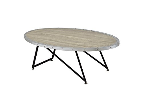 ACME Furniture Acme 81730 Allis Coffee Table, Weathered Gray Oak, One Size