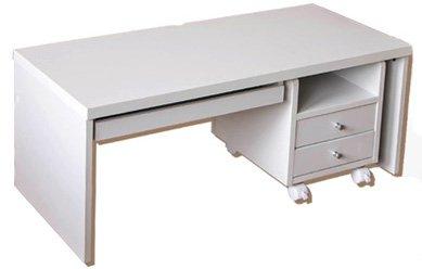 【スライド棚チェスト付き】 パソコン ローデスク 100cm幅 (ホワイト/WH) B01EAF0R1C ホワイト/WH ホワイト/WH