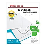 Office Depot Clean Seal(TM) Catalog Envelopes, 10in. x 13in., 30% Recycled, White, Box Of 125, 77R25