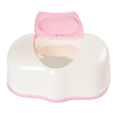 Baby Wipes Dispenser,Reusable Diaper Pouch Portable Travel Wet Wipes Holder Case Keeps Wipes Moist ()