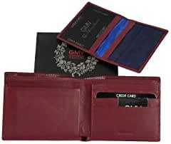 Mini wallet man GIANMARCO VENTURI red leather with flap extractable A3819