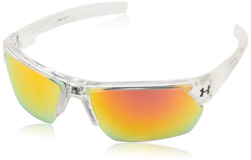 (Under Armour Igniter 2.0 Shiny Crystal Clear Frame, with Frosted Clear Rubber and Gray-Orange Multiflection Lens)