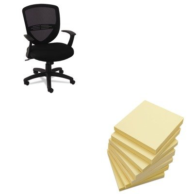KITOIFVS4717UNV35668 - Value Kit - Oif VS Series Swivel/Tilt Mesh Task Chair (OIFVS4717) and Universal Standard Self-Stick Notes (UNV35668)