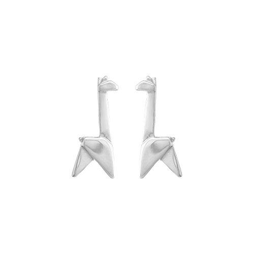 Boma Jewelry Sterling Silver Origami Giraffe Stud Earrings