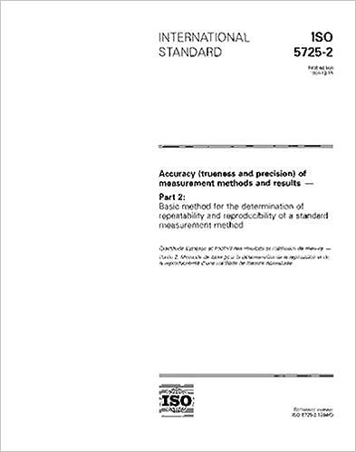 Amazon com: ISO 5725-2:1994, Accuracy (trueness and precision) of